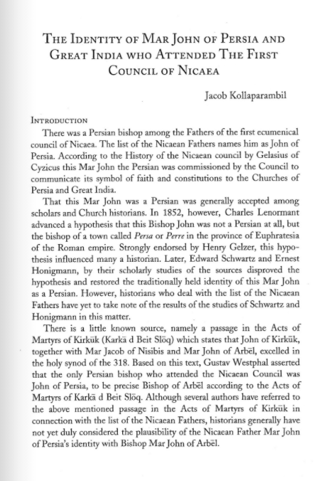 The Identity of Mar John of Persia and Great India