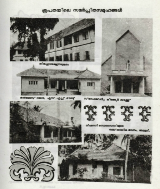 Religious Congregations of the Diocese of Kottayam in 1986