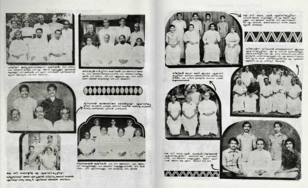 Organizations in the Diocese of Kottayam in 1986