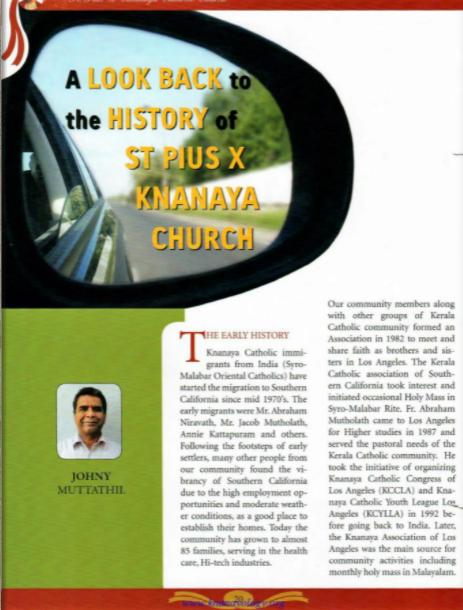 History of Los Angeles Knanaya Catholic Parish