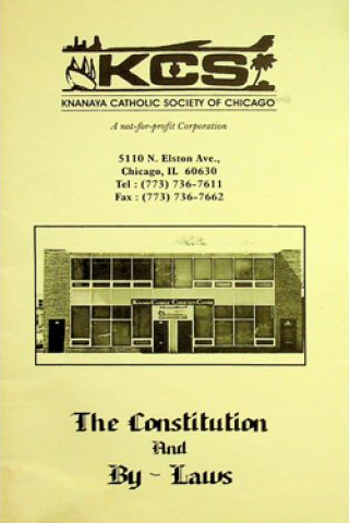 Chicago Knanaya Catholic Society (KCS) Constitution and Bylaws of 1990