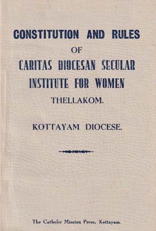 Caritas Secular Institute Constitution
