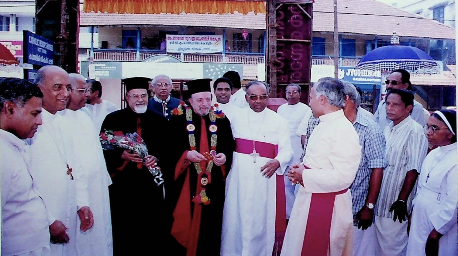 Reception to Patriarch Ignace Moussadaoud, Prefect of the Oriental Congregation on December 30, 2000.