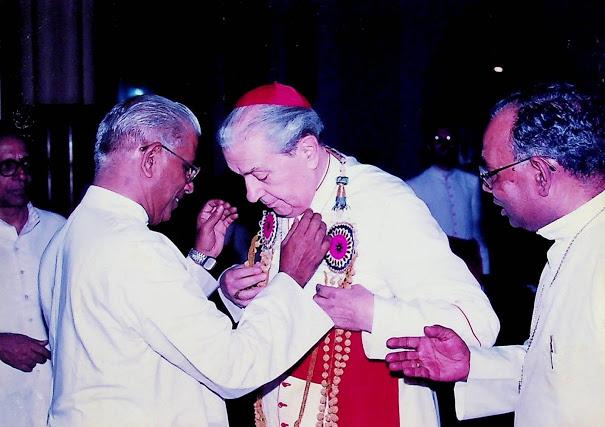 Visit of Achille Cardinal Silvestini at Kottayam.