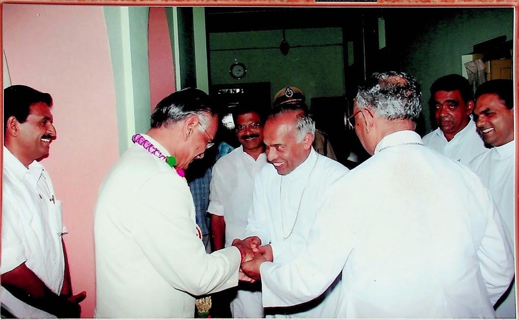 Reception to Shivraj Patil at Kottayam Bishop's House.