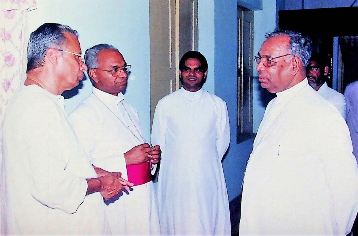 Reception to Bishop Mar Jacob Angadiath at Bishop's House Kottayam.