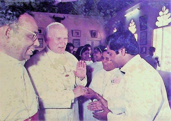 Pope John Paul II's visit at Christ the King Cathedral Kottayam