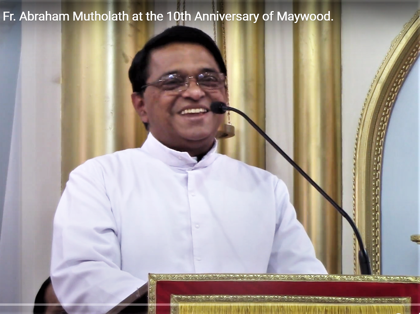 Speech by  Fr. Abraham Mutholath requesting auxiliary bishop